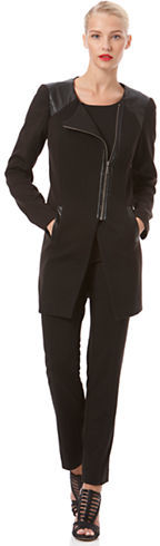 Laundry by Shelli Segal Faux Leather Accented Jacket