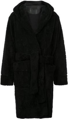 Alexander Wang fur robe coat