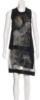 Helmut Lang Paneled Silk Dress