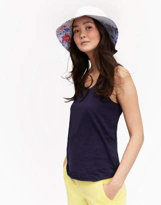 Joules Blue Stripe Whitstable Floral Celia Sun Hat Size One Size