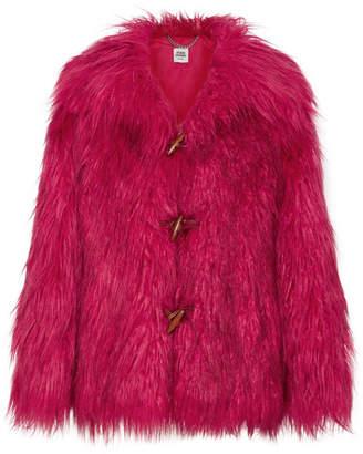 Opening Ceremony Supersonic Faux Fur Jacket - Red