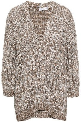 Brunello Cucinelli Sequined Marled Knitted Cardigan