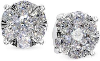 Effy Diamond Bouquet Stud Earrings (7/8 ct. t.w.) in 14k White Gold