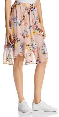 Band of Gypsies Skye Floral-Print Midi Skirt