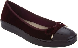 Isaac Mizrahi Live! Velvet & Patent Leather Slip-On Sneaker Flats