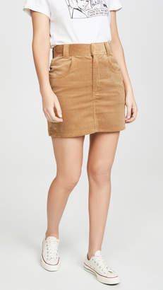 RE/DONE '90s Ultra High Rise Western Pocket Skirt