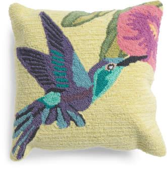 18x18 Indoor Outdoor Hummingbird Pillow