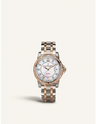 Rosegold CARL F BUCHERER 00.10617.07.77.31 stainless steel and 18ct rose-gold watch