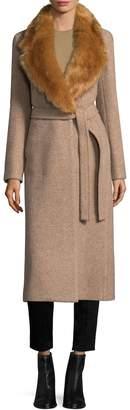 Helmut Lang Women's Surplice Wool Coat