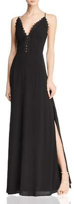 Aqua Lace-Trimmed Gown - 100% Exclusive