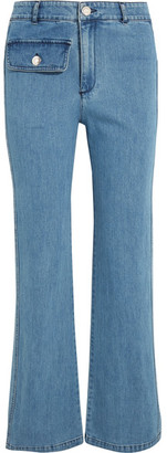 See by Chloé - High-rise Straight-leg Jeans - Mid denim $360 thestylecure.com