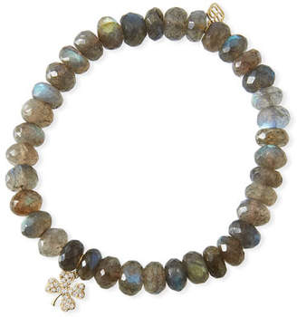 Sydney Evan Labradorite & Diamond Clover Bracelet