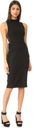KENDALL + KYLIE Lace Up Midi Dress $228 thestylecure.com