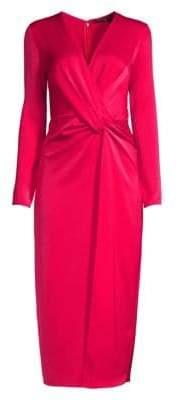 Jay Godfrey Slim-Fit Satin Gathered Dress