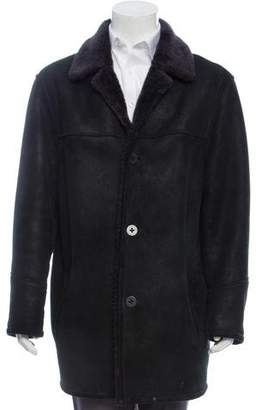 Andrew Marc Shearling Lined Suede Coat