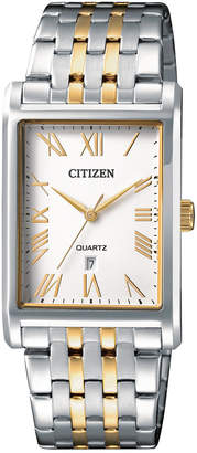 Citizen Men's Quartz Two-Tone Stainless Steel Bracelet Watch 27mm
