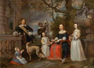 Camilla And Marc bigogo high quality polyster Canvas ,the Best Price Art Decorative Prints on Canvas of oil painting 'Gonzales Coques,Family Portrait in a Landscape,17th century', 8x11 inch / 20x28 cm is best for Living Room artwork and Home artwork and Gifts
