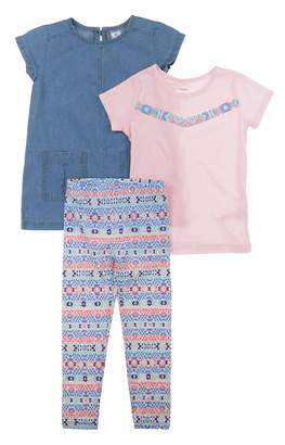 Carter's Toddler Girls 3 Piece Matching Outfit Kids Set-2 Tops, 1 Pant Bottom (24M, )