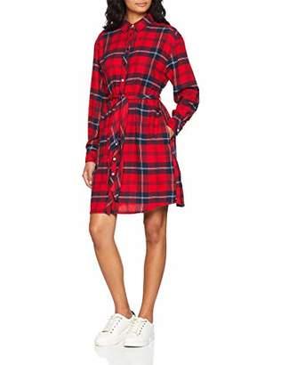 e9df7d4c02 ... Tommy Jeans Women s Easy Flannel Long Sleeve Shirt Dress