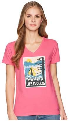 Life is Good Wildflower Camp Crusher Vee Women's T Shirt