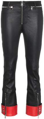 Alexander McQueen skinny cropped leather trousers