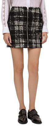 The Kooples Embellished Fleur-de-Lis Plaid Tweed Mini Skirt