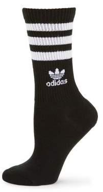 adidas Striped Logo Crew Socks