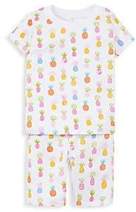 Kissy Kissy Baby Girl & LIttle Girl's Two-Piece T-Shirt & Shorts Pajama Set