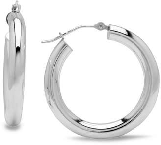 At Macy S 14k White Gold Earrings Small Hoop