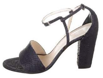 Christian Dior Python Ankle Strap Sandals
