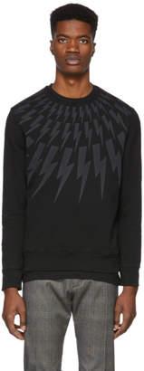 Neil Barrett Black Lightning Bolt Sweatshirt
