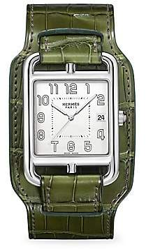 HERMÃS Women's Cape Cod, Stainless Steel & Leather Strap Watch