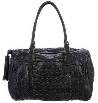 Anya Hindmarch Woven Leather Sydney Bag Black Woven Leather Sydney Bag