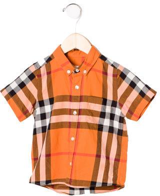 Burberry Boys' Plaid Button-Up Shirt $65 thestylecure.com