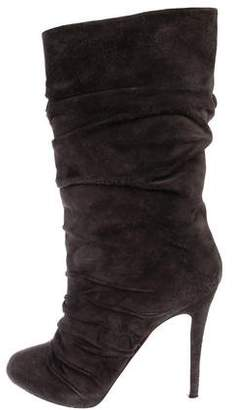 Christian Louboutin Suede High Heel Boots