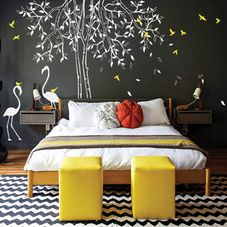 Wall Art Classic Tree With Flamingoes Wall Sticker