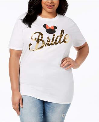 Disney Plus Size Cotton Bride Minnie Mouse T-Shirt