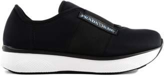 Prada Cloud Logo Patch Slip-on Sneakers