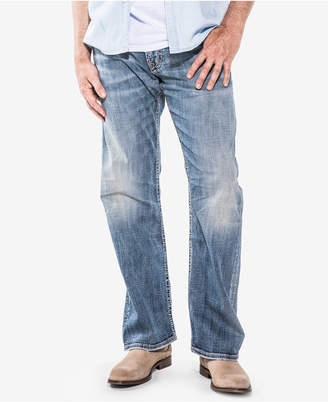 Silver Jeans Co. Men Zac Relaxed Fit Straight Stretch Jeans