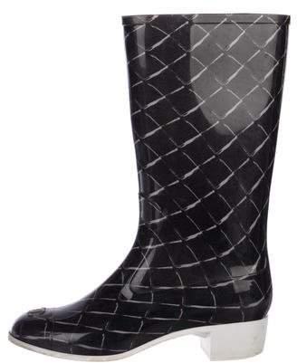 Chanel Rubber Rain Boots
