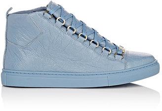 Balenciaga Women's Women's Arena Leather Sneakers $645 thestylecure.com