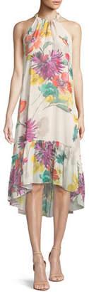 Trina Turk Rosales Splendor in the Garden Sleeveless Silk Dress