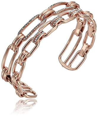 Michael Kors Brilliance Iconic Links -Tone Open Cuff Bracelet