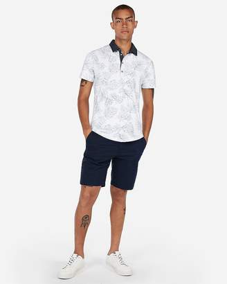 Express Signature Moisture-Wicking Floral Polo