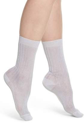 Sarah Borghi Costina Metallic Ankle Socks
