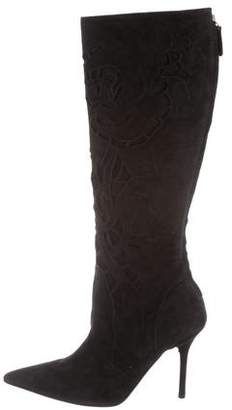Valentino Pointed-Toe Knee-High Boots