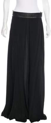 Elizabeth and James Woven-Trimmed Maxi Skirt