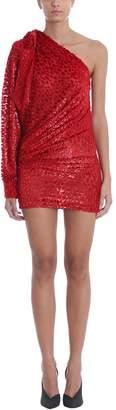 Alexandre Vauthier Asymmetric Red Silk Dress