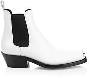Calvin Klein Women's Claire Western Leather Ankle Boots