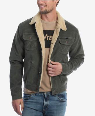 Wrangler Men Heritage Sherpa Lined Corduroy Jacket
